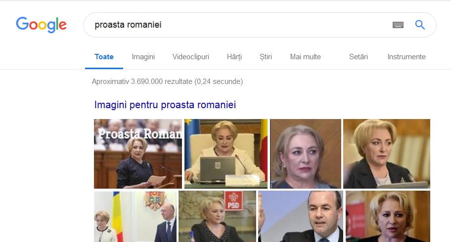 """Cine este """"proasta României"""" pe Google"""