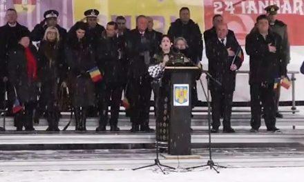 VIDEO. Imnul național, făcut praf la Piatra Neamț de Ziua Unirii Principatelor Române