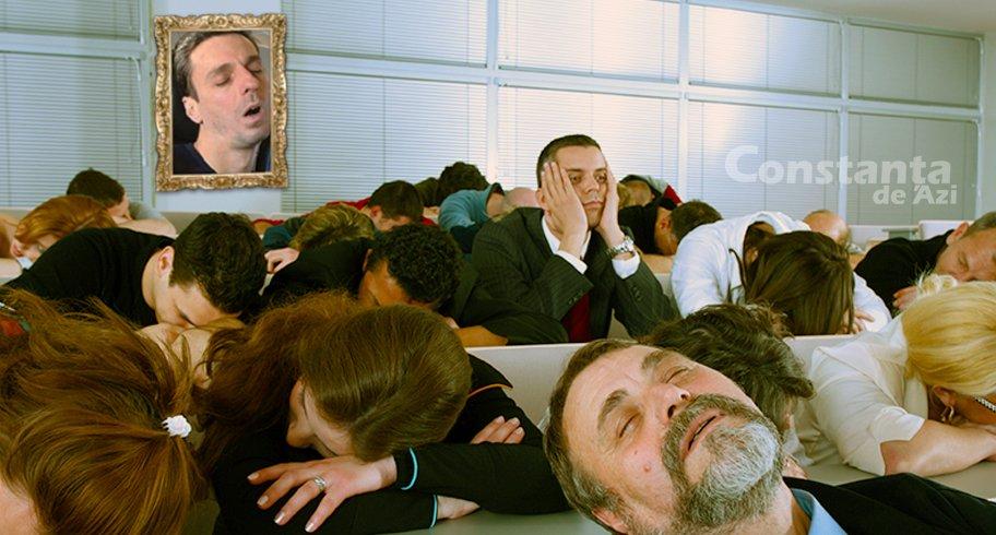 În semn de solidaritate pentru Badea, pesediştii constănţeni au dormit în grup câteva minute