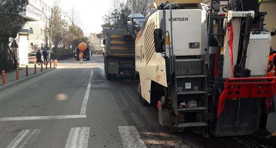 Stradă din Constanța, închisă circulației. Primăria a început lucrările de asfaltare