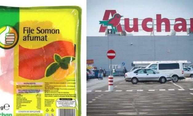 Atenţie! File de somon afumat contaminat cu Listeria, retras de Auchan