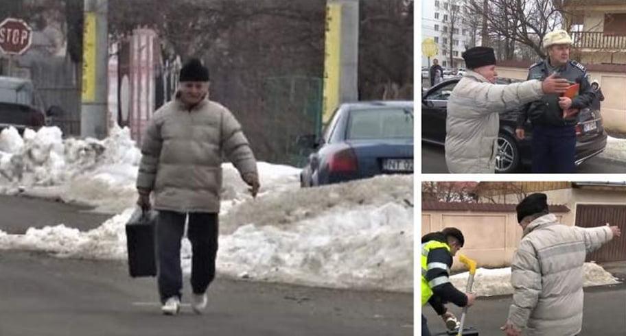 VIDEO. Un bărbat a plecat cu valiza criminalistică a poliţiştilor care interveniseră la un accident