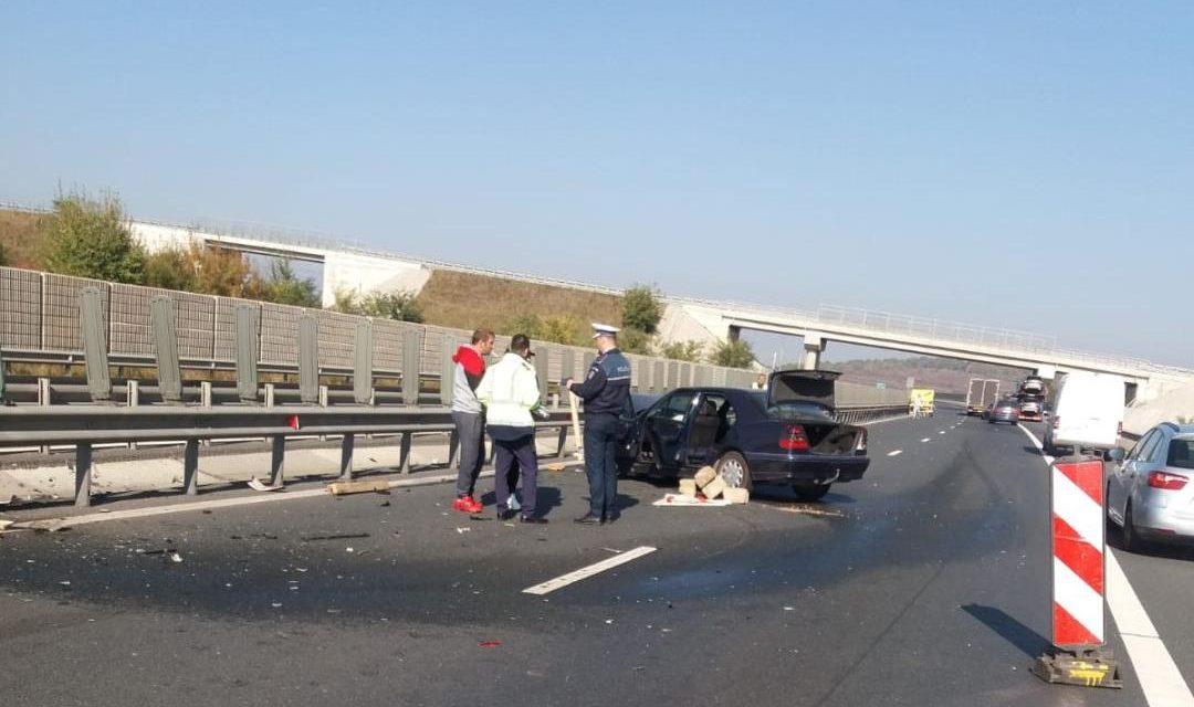 Șapte mașini implicate într-un accident în lanț pe Autostrada Soarelui. Traficul a fost deviat