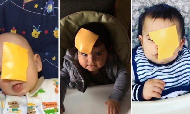 VIDEO. Părinți care aruncă cu BRÂNZĂ pe fețele copiilor. Noua ciudățenie virală de pe internet