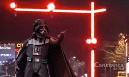 Darth Vader a venit la Constanța să-și recupereze sabia laser, dar și-a luat țeapă