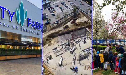 După ce aproape au distrus un parc, City Park Mall se laudă cu plantări de copăcei prin oraș