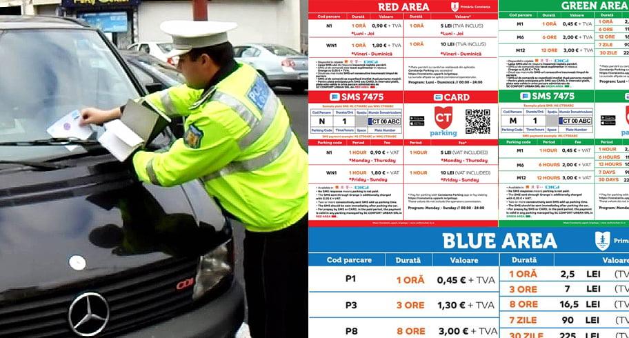 Primăria a modificat regulamentul parcărilor cu plată din Constanța. După ora 17.00, veți putea parca gratuit