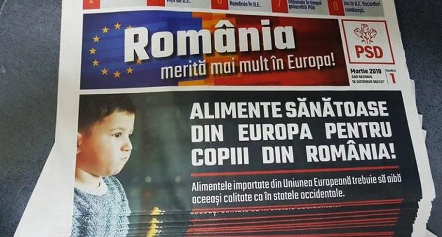 Poşta Română distribuie pliante de propagandă PSD la pachet cu pensiile