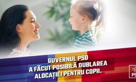 """PSD """"fură"""" până și alocațiile copiilor. Se laudă cu dublarea alocațiilor, deși s-a opus și a votat împotrivă"""