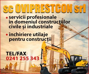 SC Oviprestcon închiriază utilaje pentru construcții