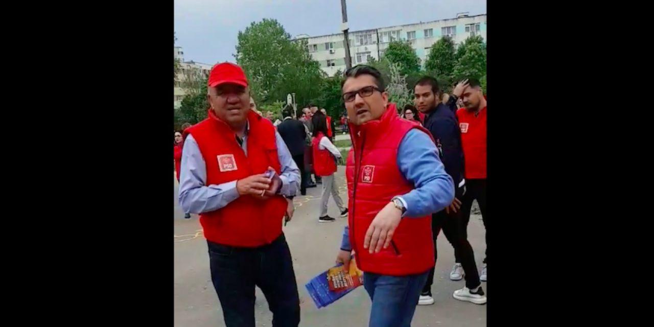 VIDEO. Făgădău, luat la fugă de constănțeni. Ieșise într-un parc cu pesediștii în campanie electorală