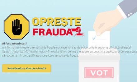 A fost lansat OpresteFrauda.ro unde puteți semnala abuzurile din campanie sau în ziua alegerilor