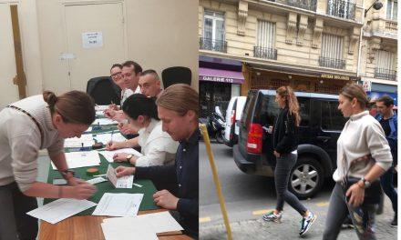În aplauzele românilor, Simona Halep, aflată la turneul de la Roland Garros, a votat la Paris