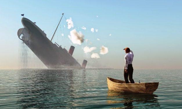 Amiralul a căzut din pat și își caută corabie
