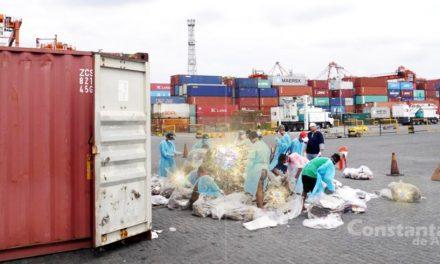 Un container plin cu șpagă de toate felurile a fost descoperit în Portul Constanța