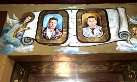Prietenii lui Dragnea Jr. au fost pictați pe pereții unei biserici din Teleorman