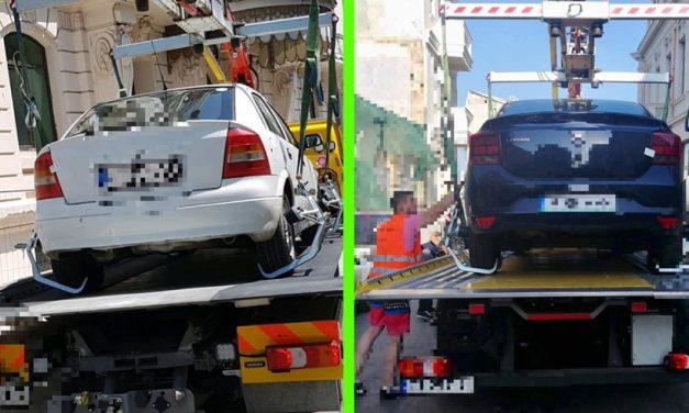 Atenție, șoferi! Într-o singură zi au fost ridicate patru mașini parcate în Zona Peninsulară