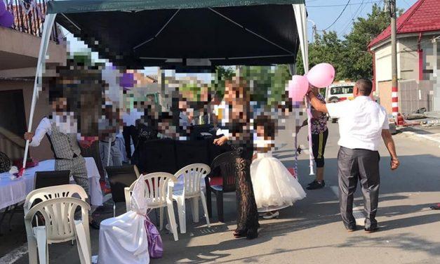 Nuntă țigănească la șosea, întreruptă de polițiștii locali. Amenzile au fost cu strigare