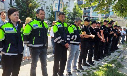 FOTO. Polițiștii constănțeni, moment de reculegere pentru colegul din Timiș, împușcat în misiune