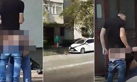 VIDEO. Scene erotice în centrul Iașului. Tineri filmați în timpul unui sex oral pe stradă, în amiaza mare