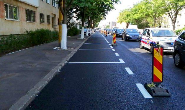 Continuă lucrările de asfaltare și reabilitare pe strada I.L. Caragiale. Restricții de trafic pe timpul nopții