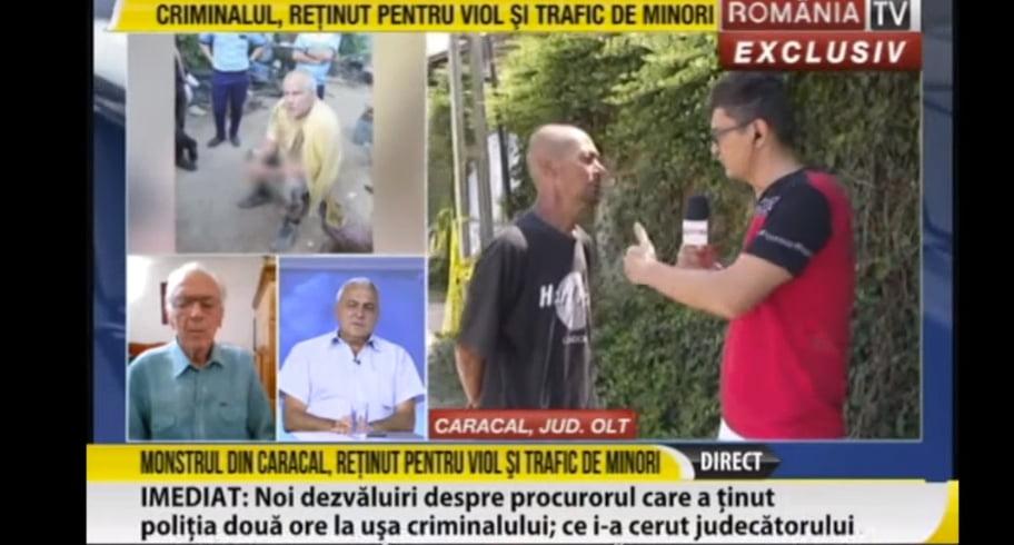 """Mizerie pe România TV în cazul de la Caracal. Lazarus către un martor: """"Parcă sunteți ars pe mâini. Nu l-ați ajutat pe asasin?"""""""