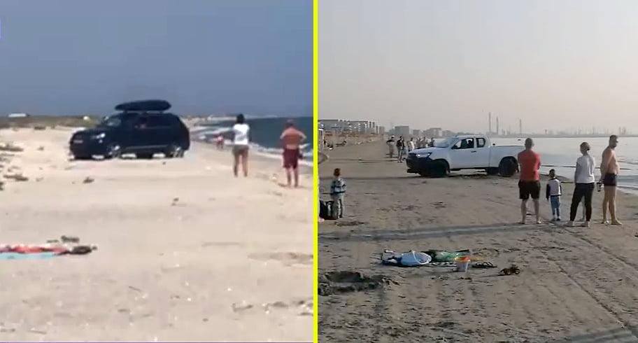 VIDEO. Nesimțire și tupeu. Teribiliști cu mașinile pe plajă. Șoferii riscă amenzi de până la 20.000 de lei