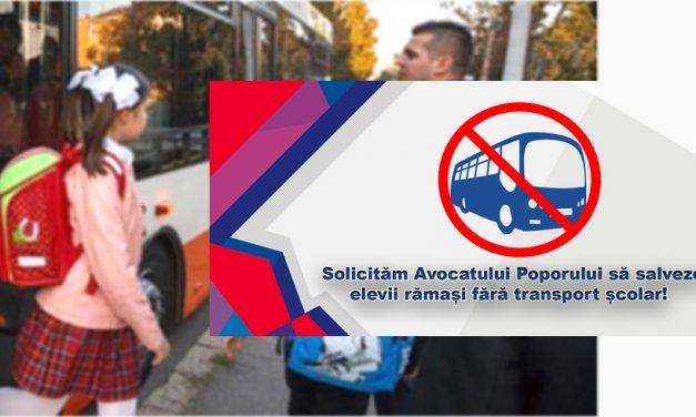 Elevii au lansat o petiție online către Avocatul Poporului, pentru a salva transportul școlar