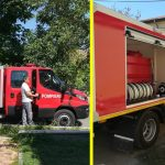 Autospecială pentru stingerea incendiilor, cupărată cu fonduri europene de Primăria Ovidiu