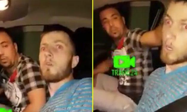 "VIDEO. ""Spart"" cu droguri s-a urcat la volan și a provocat un accident rutier"