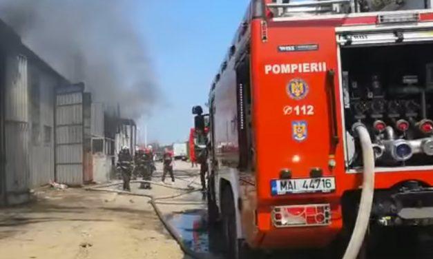 Incediu la un depozit din Constanța. Autoritățile au emis RO ALERT din cauza fumului toxic