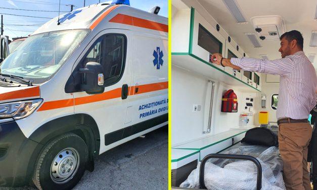 Orașul Ovidiu, dotat de primărie cu o ambulanță pentru Serviciul Voluntar de Urgență