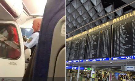 Doi români au făcut scandal într-un avion, fiind necesară aterizarea de urgență la Frankfurt