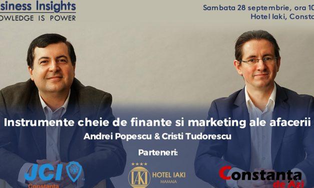 Workshop de business la Constanța. Descoperi instrumente cheie de finanțe și marketing ale afacerii tale