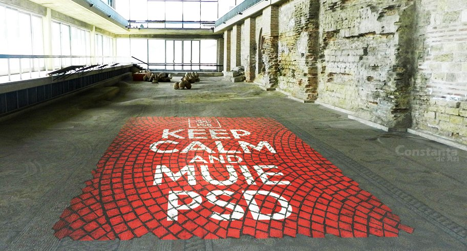 Un mozaic inedit, cu un mesaj aparte, a apărut peste noapte în Edificiul Roman cu Mozaic!