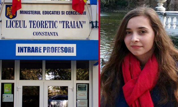 Avocatul Poporului îi dă dreptate Roxanei, eleva care a publicat lista cu fondul școlii de la liceul Traian