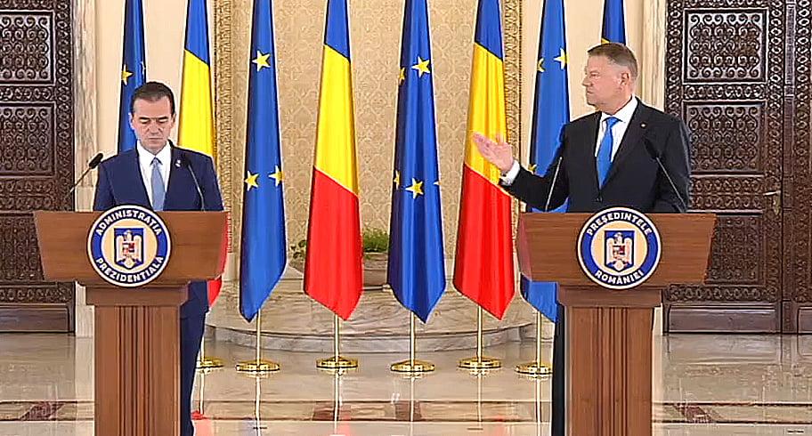 Iohannis a făcut anunțul oficial al desemnării lui Ludovic Orban în funcția de premier