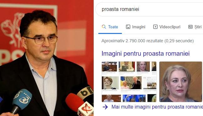 """Oprișan, atac dur la Dăncilă. """"Dați o căutare pe Google cu proasta României și vă dă rezultat Dăncilă""""."""
