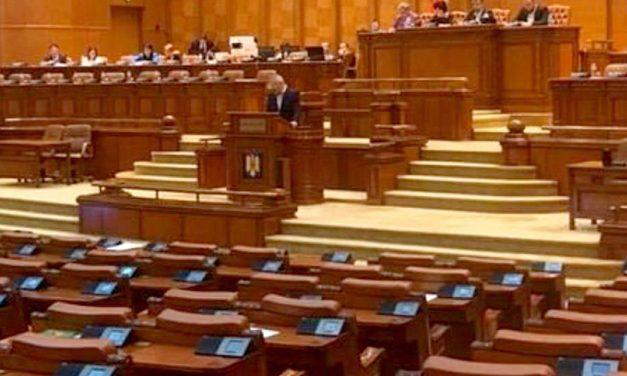 Moțiunea de cenzură, citită cu sala aproape goală și în absența premierului Dăncilă și a miniștrilor PSD