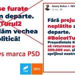 PSD continuă valul de fake news pe Facebook. Mesaje false, cu siglele USR PLUS, prin care se îndeamnă la boicot
