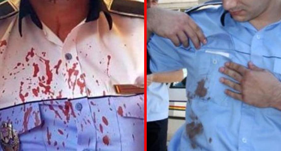 Polițiști bătuți și amenințați cu pistolul la tâmplă de un clan de țigani. Un agresor a apăsat trăgaciul