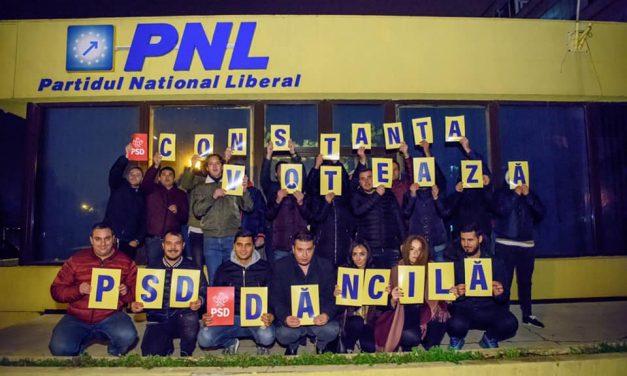 Jenant! Felix Stroe a trimis tinerii din PSD Constanța să se pozeze cu sediul PNL și mesaje pentru Viorica