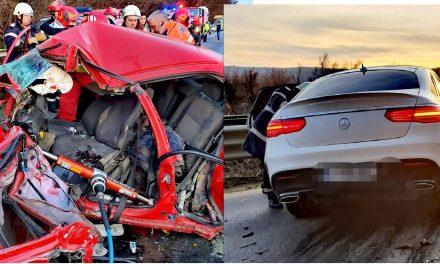FOTO impact devastator / Cum arată o coliziune între un Mercedes GLE și un Opel Astra la 120 km/h
