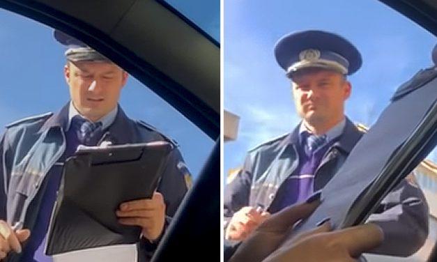 VIDEO. Un polițist și-a amendat fosta soție pentru că nu avea folii omologate, deși mașina era cumpărată de el