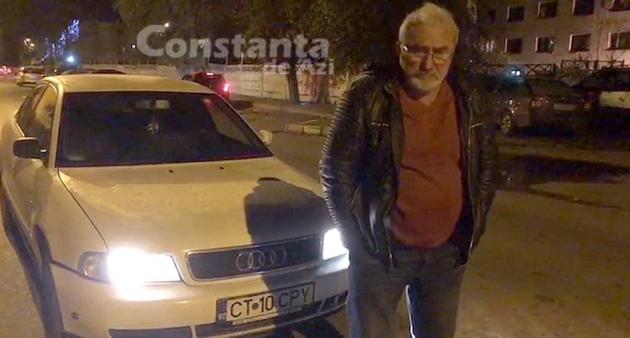 """Poliția, sesizată pentru același șofer beat cu Audi alb. """"Mergea foarte haotic. Am sunat la 112, l-am urmărit în trafic și Poliția nu a venit"""""""