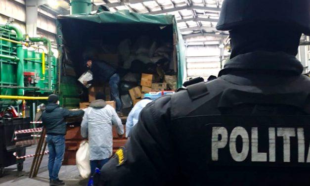 VIDEO. 1,8 tone de heroină, cocaină și cannabis au fost distruse la Constanța