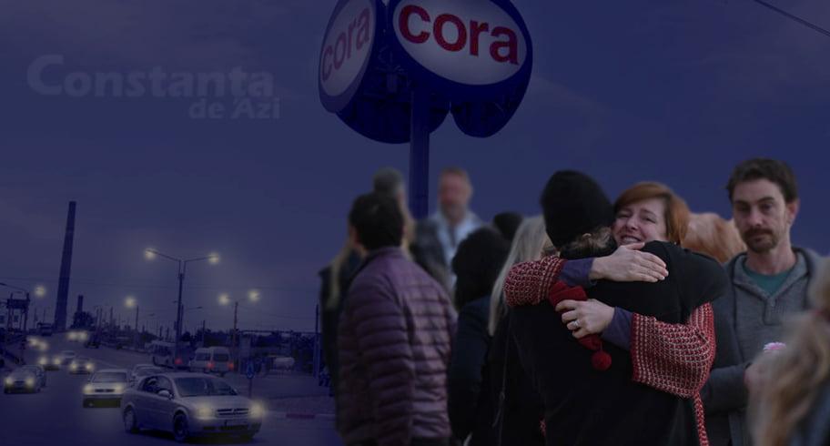 Lacrimi de bucurie în sensul de la Cora. Mai multe rude s-au revăzut în timp ce stăteau blocate