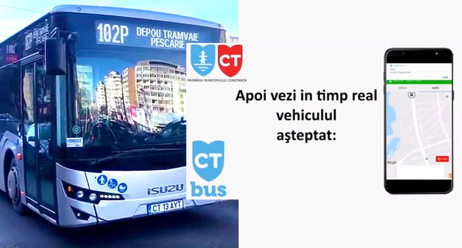 CT BUS a lansat o aplicație mobilă, ca să știți când sosește autobuzul în stație