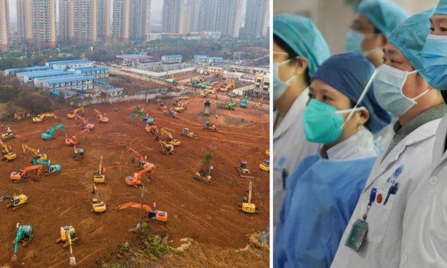 FOTO. Chinezii fac un spital cu 1.000 de patrui, în zece zile, pentru pacienții contaminați cu coronavirus