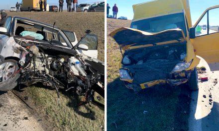 VIDEO. Trei răniți într-un accident rutier în lanț la ieșirea din Medgidia